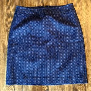 NWT Talbots Navy Blue Triangle Design Pencil Skirt